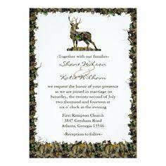 "Hunting Camouflage wedding invitation 5"" X 7"" Invitation Card"