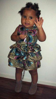African print girl's dress