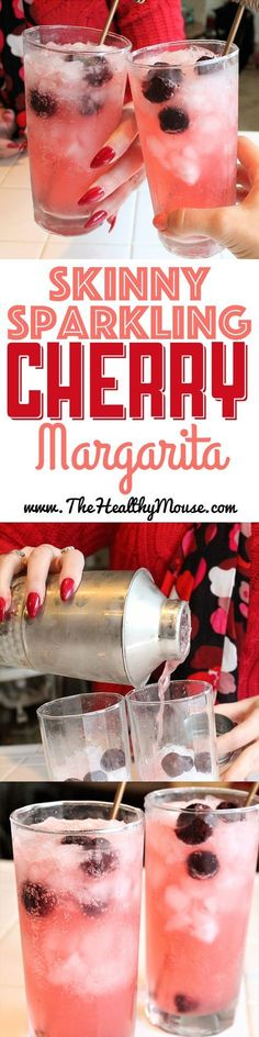 A low-carb, refreshing take on a cherry margarita