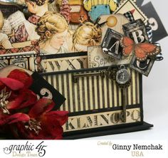"""""""ABC Primer"""" collection 'Book Box 3d Collage' (view 3) by Ginny Nemchak ~ Graphic 45 Projects."""