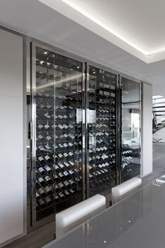 cave a vin construction, en verre - Google Search