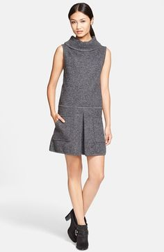 tres chic!  Free shipping and returns on Rachel Zoe Cowl Neck Sweater Dress at Nordstrom.com. Soft merino wool forms this luxe cowl-neck sweater-dress structured with a single inverted pleat and detailed with large patch pockets.