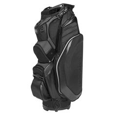 Made from nylon these stylish looking mens Taj golf cart bags by Ogio feature integrated putter wells that fit oversized grips