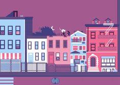 New York Illustrations by Fausto Montanari Design Plat, Flat Web Design, Design Logo, Design Poster, Site Design, Graphic Design, New York Illustration, Building Illustration, Digital Illustration