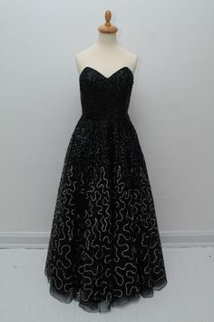 Haute Couture tulle vintage galla dress 1950, S