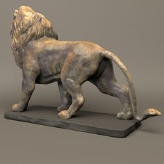Stone Lion Sculpture Model available on Turbo Squid, the world's leading provider of digital models for visualization, films, television, and games. Elephant Sculpture, Lion Sculpture, Lion Walking, Statue Tattoo, Stone Lion, Clay Wall Art, Work With Animals, Art Prompts, Lion Art
