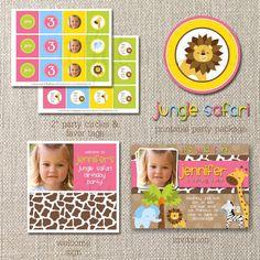DIY Deluxe Printable Birthday Party Package by totfulmemories, $35.00