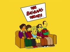 awesome The Big Bang Theory in Simpsons style