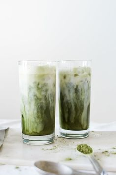 This Iced Matcha Milk Latte we're drooling over only takes a few simple steps to make.