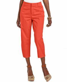 Jm Collection Twill Capri Pants