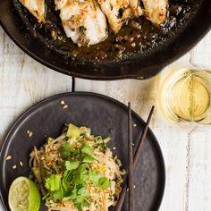 My Food Bag - Nadia Lim - Recipes - Thai-Glazed Fish with Vegetable Pad Thai