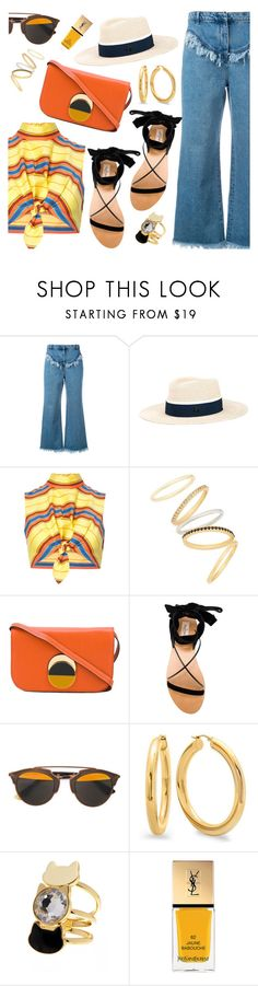 """""""Outfit of the Day"""" by dressedbyrose ❤ liked on Polyvore featuring Philosophy di Lorenzo Serafini, Maison Michel, Moschino, Madewell, Marni, Valentino, Christian Dior, Yves Saint Laurent, ootd and polyvoreeditorial"""