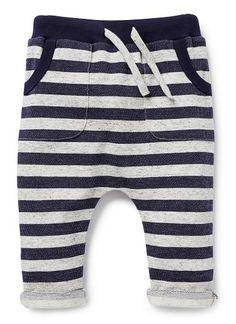 Baby Boys Pants & Shorts | Stripe Harem Pant | Seed Heritage
