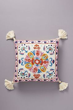 Assorted Pillows by Anthropologie, Embroidered Valeria Pillow Boho Pillows, Linen Pillows, Linen Bedding, Throw Pillows, Bedding Sets, Bed Linens, Bed Cushions, Sofa Bed, Cushion Cover Designs