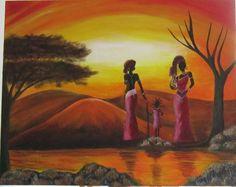 3 Africanas (Estudio de pintura Lucía Miranda)