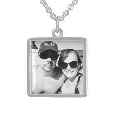 50063d979 Add your Cute Couple Photo Personalized Sterling Silver Necklace - gift for  him present idea cyo