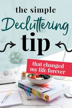 The Simple Decluttering Tip That Changed My Life This quick decluttering tip has really helped me to sort the clutter in my small home. If you want to declutter your home but don't know where to start, this decluttering hack might be perfect for you. Getting Rid Of Clutter, Getting Organized, Clutter Organization, Organizing Life, Organization Ideas, Kitchen Organization, Downsizing Tips, Clutter Solutions, Paper Clutter