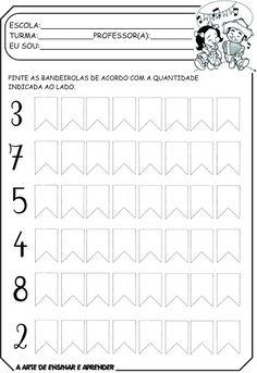 Atividades com tema junino Learning Numbers, Preschool Activities, Vocabulary, Alphabet, Homeschool, Teaching, Education, Junho, 1