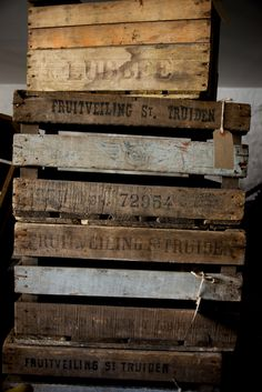 So many amazing vintage crates available at our Cotes Mill Showrooms