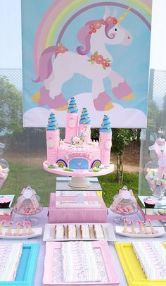 Rainbows and Unicorns Party with So Many Cute Ideas via Kara's Party Ideas | KarasPartyIdeas.com