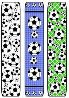 Football soccer Bookmarks on Craftsuprint created by Katie Silver - I printed the sheet onto size heavyweight matte photo paper, printed the back of the sheet with a toning colour and cut out the bookmarks. Soccer Birthday Parties, Football Birthday, Sports Birthday, Baseball Party, Soccer Party, Sports Party, Kids Soccer, Football Soccer, Free Printable Bookmarks