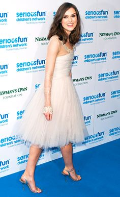 Keira Knightley stuns in a white tulle gown -- much like the dress she wore to marry James Righton -- at the Serious Fun Children's Network Gala.