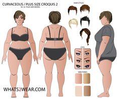 Female Plus Size (18-32) Croquis Template
