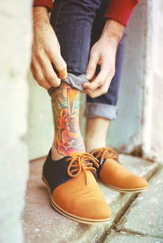 shoe and tattoo