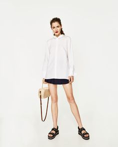 ZARA - TRF - SHIRT WITH BOWED CUFFS AND BACK