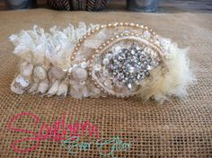 Something old to something new Heirloom Garter - Send us pieces of mother/grandmothers wedding gown and we make it into your wedding garter via Etsy