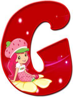 Alfabeto Decorativo: Alfabeto - Moranguinho - PNG