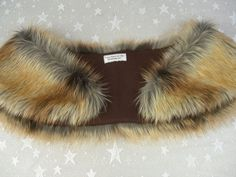Faux Fur Shrug Fox Gold Tip Faux Fur Shawl Fur Stole by HotHats, $39.95