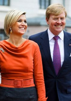 Dutch King Willem-Alexander and Queen Maxima visit Prime Minister Jens Stoltenberg in Oslo, Norway, 02.10.13.