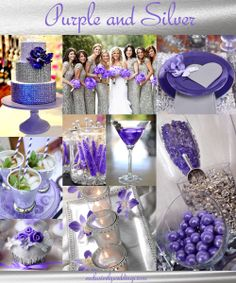 Purple and Silver Wedding Colors Silver Wedding Colours, Purple And Silver Wedding, Silver Weddings, Wedding Wishes, Our Wedding, Dream Wedding, Crazy Wedding, Wedding 2015, Wedding Dress