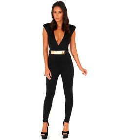 Kloudin Belted Crossover Jumpsuit - Jumpsuits and Playsuits - Jumpsuits - Missguided