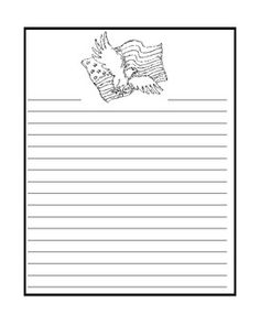 Letter Writing Paper for Veteran's Day