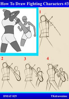 DMAT 029 - How To Draw Fighting Characters #3 by TKdrawnime