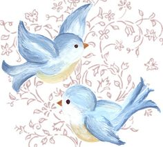 Handpainted Bluebirds | Flickr - Photo Sharing!