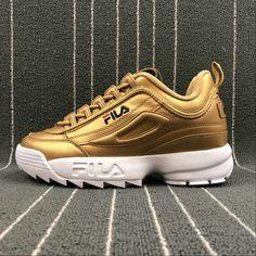 Fila Disruptor II Metal, bronze gold. #sneakers #fila #baskets #shoes