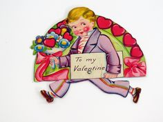1900s Antique German Valentines Die Cut Motion Color Litho Valentine's Day Card by KentonCollectibles on Etsy