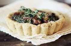 Rainbow Chard Tartlets with Rosemary Almond Meal Crust by roostblog #Tart #Chard #roostblog