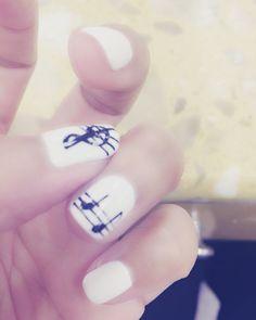 Music notes nail designs Music Note Nails, Bookshelf Bar, Music Notes, Nail Designs, Bookcase Bar, Nail Desings, Sheet Music, Nail Design, Song Lyrics