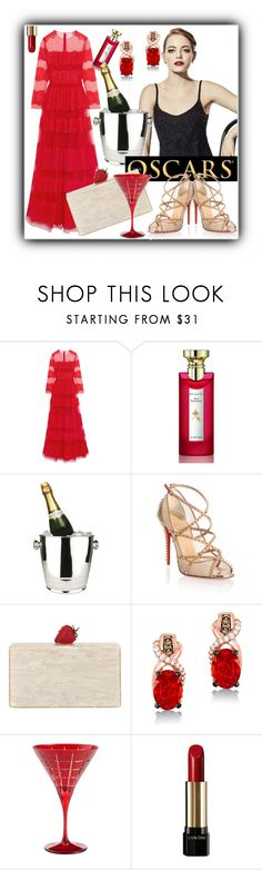 """""""#1320@"""" by elena-gienko ❤ liked on Polyvore featuring Valentino, Bulgari, Winco, Christian Louboutin, Edie Parker, LeVian, Pottery Barn, Lancôme and RedCarpet"""