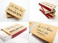 Matchbox Wedding Favor A Match Made in Heaven Foil by TeaAndBecky, $125.00