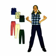Girls Vest and Pants Simplicity 7937 Sewing Pattern