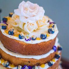 Lemon elderflower and blueberry cake