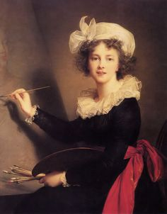Self-portrait by Élisabeth Vigée-Lebrun, painted at Florence, 1790. Uffizi Gallery, Florence. -  was a French painter, and is recognized as the most important female painter of the 18th century.  In her choice of color and style while serving as the portrait painter to Marie Antoinette, Vigée Le Brun is purely Rococo.