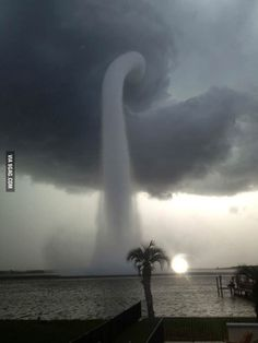 Awesome water spout off the coast of Florida yesterday. Whoa!