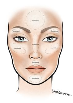 contour makeup – Hair and beauty tips, tricks and tutorials Contouring Oval Face, Oval Face Makeup, Blue Eye Makeup, Contour Makeup, Contouring And Highlighting, Skin Makeup, Beauty Make-up, Beauty Hacks, Hair Beauty