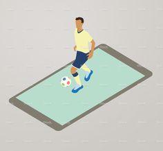 Football App Illustration stock vector art 82486615 - iStock